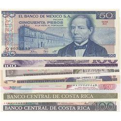 Mix Lot, 7 banknotes in whole UNC conditionbr/Mexico 50 Pesos, Mexico 100 Pesos, Guatemala 1/2 Quetz