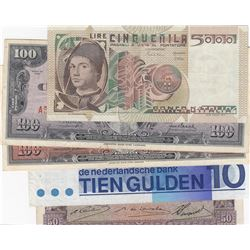 Mix Lot, 5 banknotes in whole Different conditionbr/Italy 5000 Lire, Cuba 100 Pesos (2), Netherlands