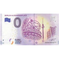 Fantasy banknotes, 0 Euro, 2018, UNC, Berlin Alexanderplatzbr/