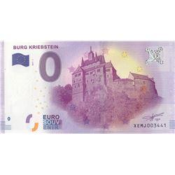 Fantasy banknotes, 0 Euro, 2018, UNC, Burg Kriebsteinbr/