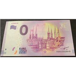 Fantasy banknotes, 0 Euro, 2018, UNC, Lübeckbr/