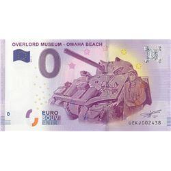 Fantasy banknotes, 0 Euro, 2018, UNC, Overlord Museum- Omaha Beachbr/