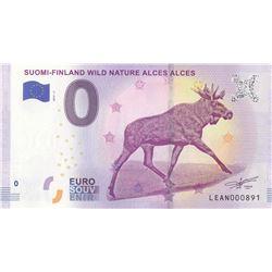 Fantasy banknotes, 0 Euro, 2018, UNC, Suami- Finland Wild Nature Alces Alcesbr/