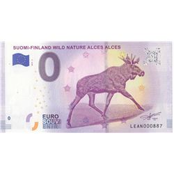Fantasy banknotes, 0 Euro, 2018, UNC, Suomi-Finland Wild Nature Alces Alcesbr/