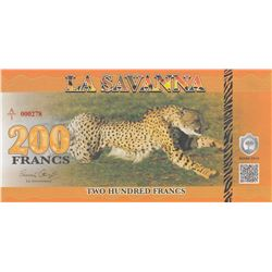 Fantasy banknotes, 200 Francs, 2015, UNCbr/serial number: A/1 000278