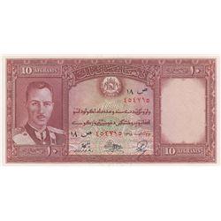 Afghanistan, 10 Afghanis, 1939, UNC, p23br/King Muhammad Zahir portrait