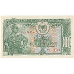 Albania, 100 Leke, 1957, UNC, p30br/serial number: NR 456610