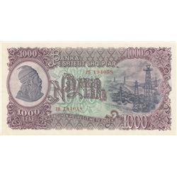 Albania, 1.000 Leke, 1957, UNC, p37br/serial number: TH 194058