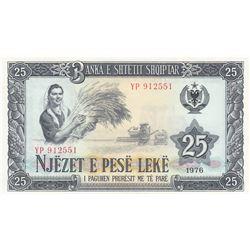 Albania, 25 Leke, 1976, UNC, p44br/serial number: YP 912551