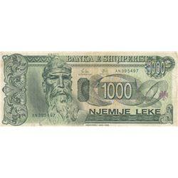 Albania, 1.000 Leke, 1994, VF, p58abr/serial number: AN 395497