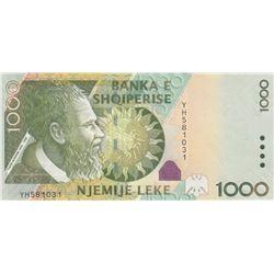 Albania, 1.000 Leke, 2011, UNC, p69br/serial number: YH 581031
