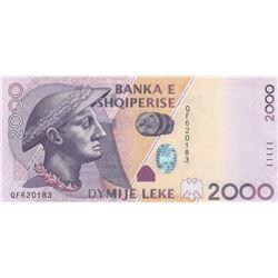 Albania, 2.000 Leke, 2012, UNC, p74br/serial number: QF 620183