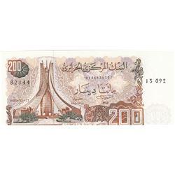 Algeria, 200 Dinars, 1983, UNC, p135br/serial number: 0146936307