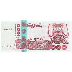 Algeria, 1.000 Dinars, 1998, UNC, p142bbr/serial number: 2922086927