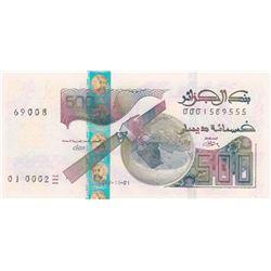 Algeria, 500 Dinars, 2018, UNC, pNewbr/serial number: 0001589555