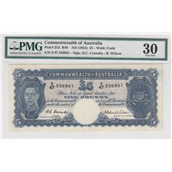 Australia, 5 Pounds, 1952, VF, p27dbr/PMG 30, serial number: S/47 556861