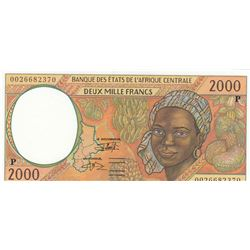 Central African States,  Chad, 2.000 Francs, 2000, UNC, p603Pg br/serial number: 0026682370