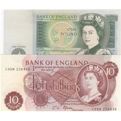 1981 P377a Queen II UNC England Great Britain 1 Pound