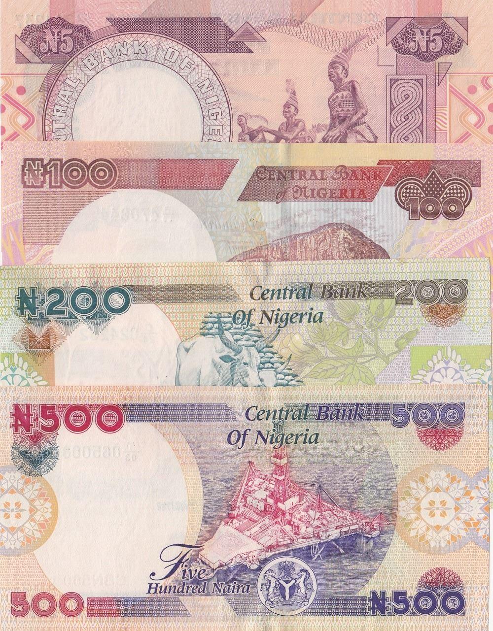 NIGERIA 500 NAIRA 2016 NEW DATE AND SIGN P 30 UNC