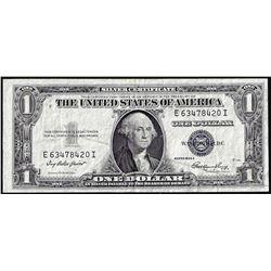 1935E $1 Silver Certificate Note Large Gutter Fold ERROR