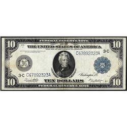1914 $10 Federal Reserve Bank Note Philadelphia