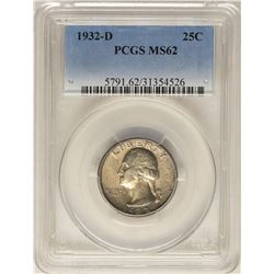 1932-D Washington Quarter Coin PCGS MS62