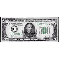 1934A $500 Federal Reserve Note Chicago