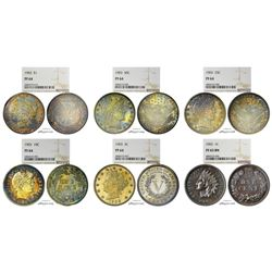 Rare 1903 (6) Coin Proof Set NGC Graded PF64/PF65 BN Great Toning