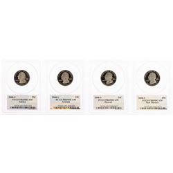 Set of (4) 2008-S Proof State Quarter Coins PCGS PR69DCAM