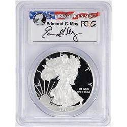 2014-W $1 American Silver Eagle Proof Coin PCGS PR69DCAM W/Edmund C. Moy Signature