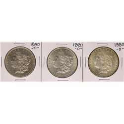 Lot of (3) 1880-O $1 Morgan Silver Dollar Coins