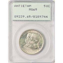 1937 Antietam 75th Anniversary Commemorative Half Dollar Coin PCGS MS65 Old Rattler