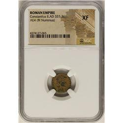 Constantius II, 337-361 AD Ancient Roman Empire Coin NGC XF
