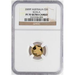2009 Australia $5 Proof Koala Gold Coin NGC PF70 Ultra Cameo