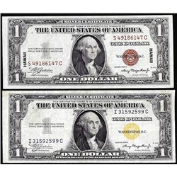 Lot of 1935A $1 Hawaii & North Africa WWII Emergency Issue Silver Certificate Notes