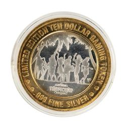 .999 Fine Silver Tropicana Las Vegas, Nevada $10 Limited Edition Gaming Token