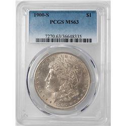 1900-S $1 Morgan Silver Dollar Coin PCGS MS63