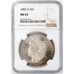 1885-O $1 Morgan Silver Dollar NGC MS63 Nice Toning