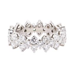 Tiffany and Co Platinum 2.59 ctw Diamond Aria Eternity Band Ring Size 4.5