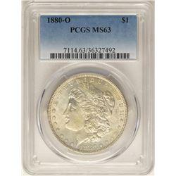 1880-O $1 Morgan Silver Dollar Coin PCGS MS63