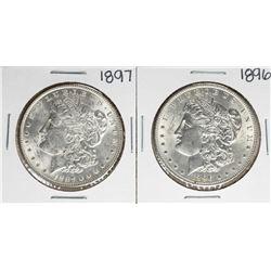 Lot of 1896-1897 $1 Morgan Silver Dollar Coins