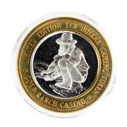 .999 Silver Gold Ranch Casino Verdi, Nevada $10 Casino Limited Edition Gaming Token