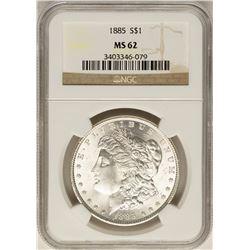 1885 $1 Morgan Silver Dollar Coin NGC MS62