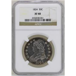 1824 Capped Bust Half Dollar Coin NGC XF40