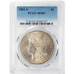 1881-S $1 Morgan Silver Dollar PCGS MS65 Nice Toning