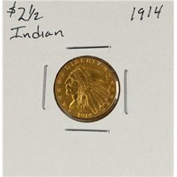 1914 $2 1/2 Liberty Head Quarter Eagle Gold Coin