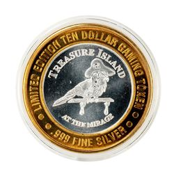 .999 Silver Treasure Island Las Vegas $10 Limited Edition Casino Gaming Token