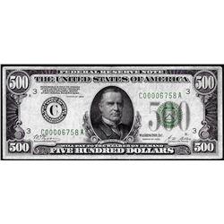 1928 $500 Federal Reserve Note Philadelphia