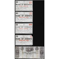 Group of Bank of Augusta, GA Obsolete Notes