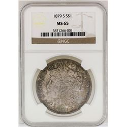 1879-S $1 Morgan Silver Dollar Coin NGC MS65